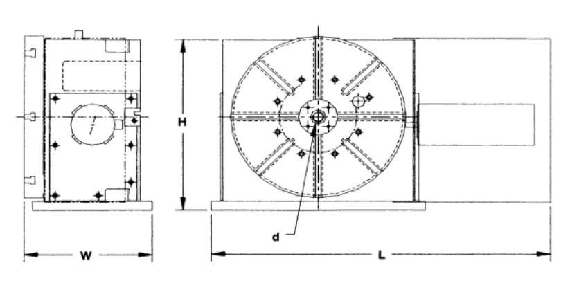 Vertical Rotary Tables, High Load, High Accuracy, Heavy Machining