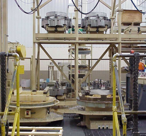 Pallet storage systems, pallet transfer systems, FMS systems