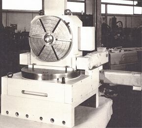 Combination horizontal vertical rotary table